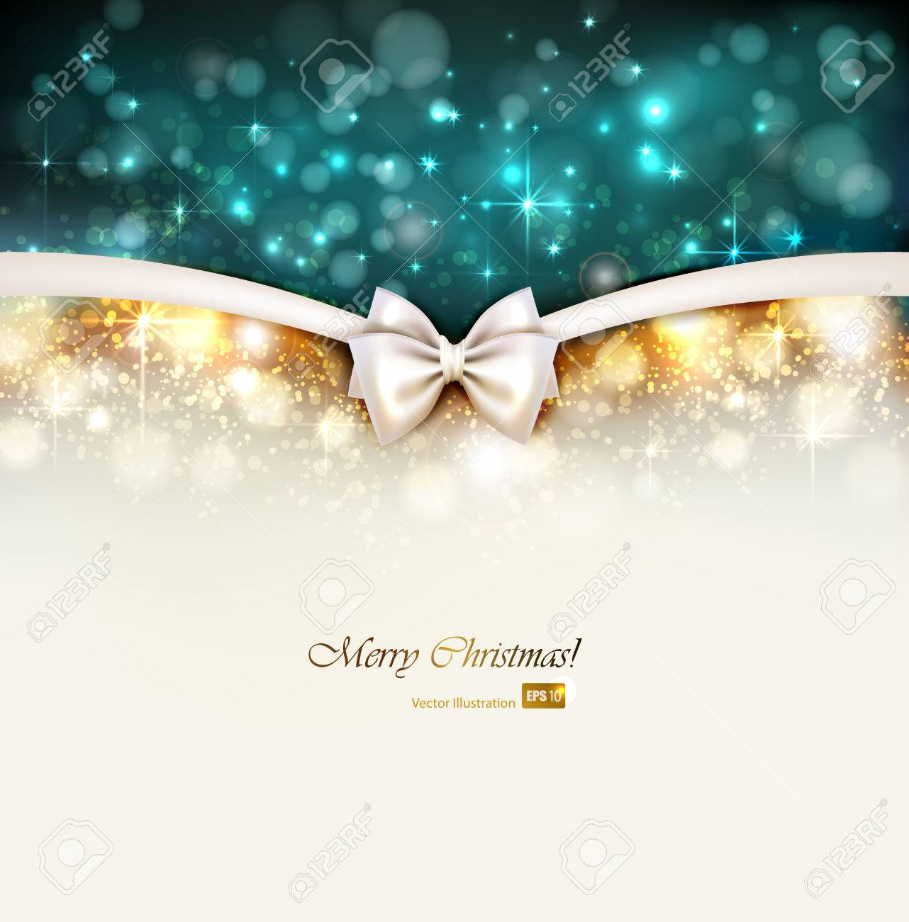 Christmas shine background with bow Stock Vector - 25497884
