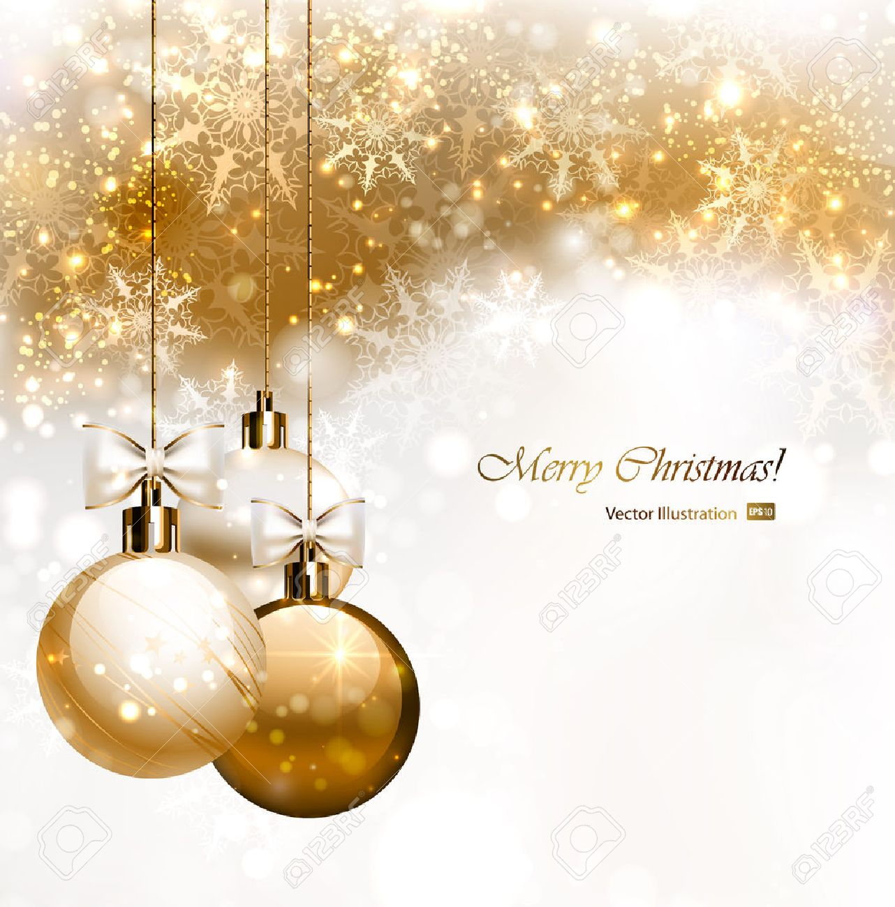 Christmas background with three Christmas baubles - 25497928