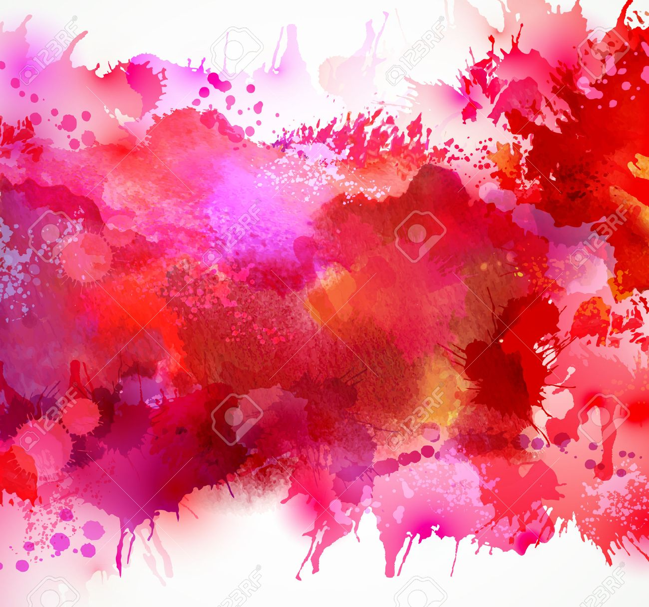 Bright watercolor stains with red blots Stock Vector - 36224894