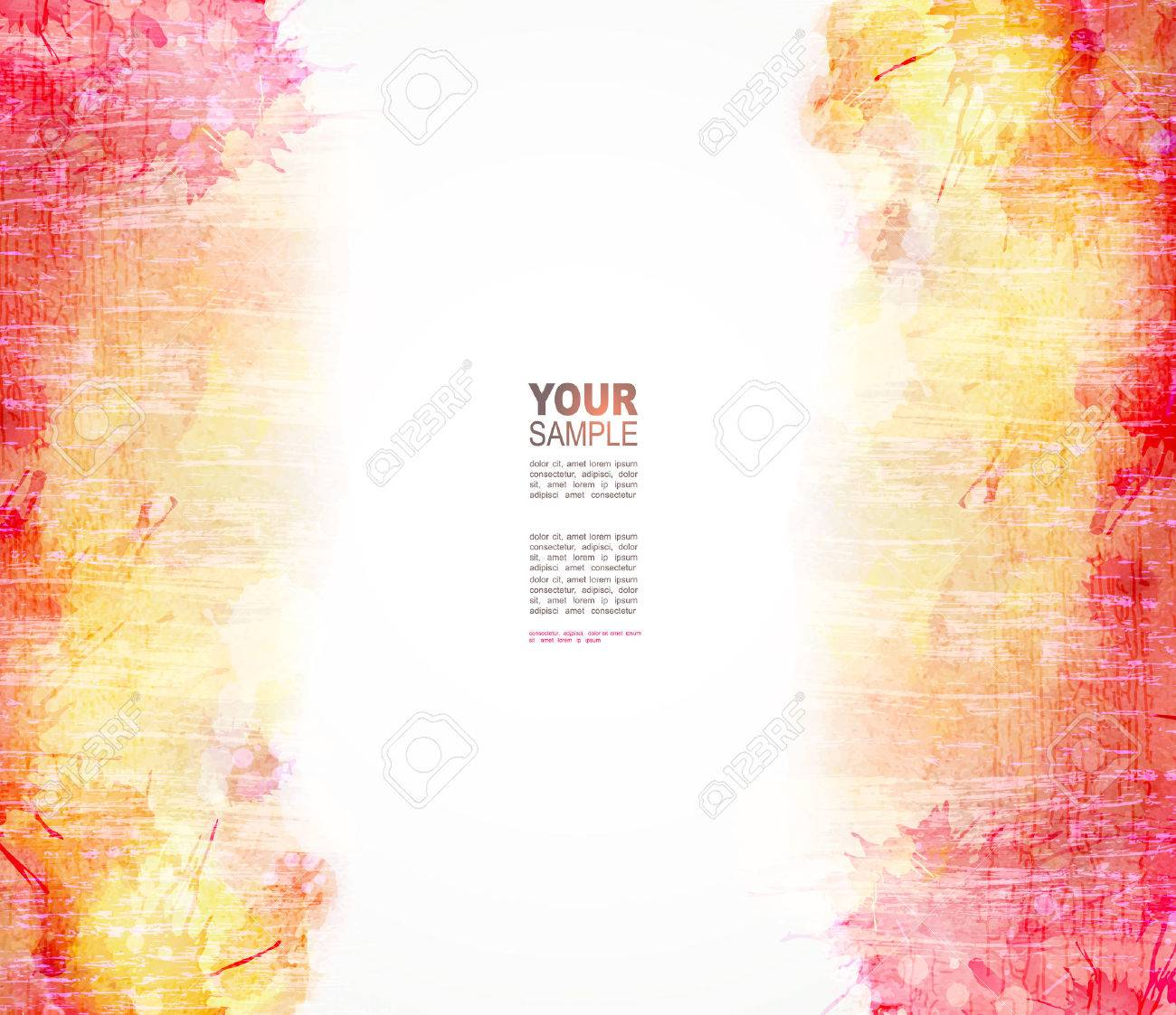 Red and yellow watercolor background. Vector blob Stock Vector - 36357738