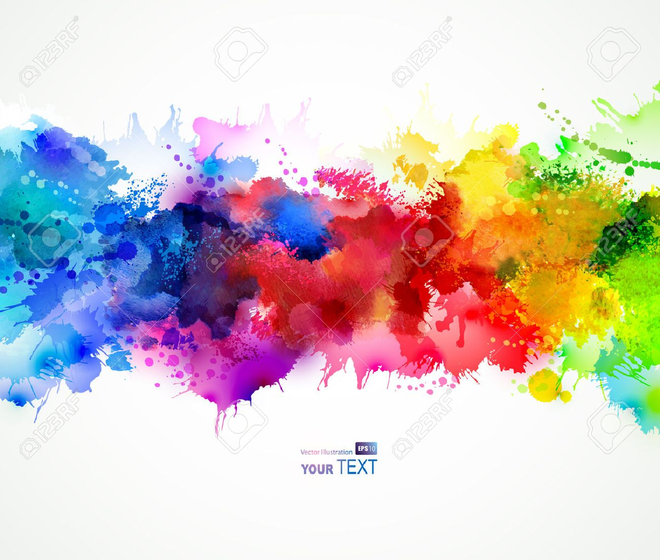 bright background with watercolor stains Stock Vector - 36528146