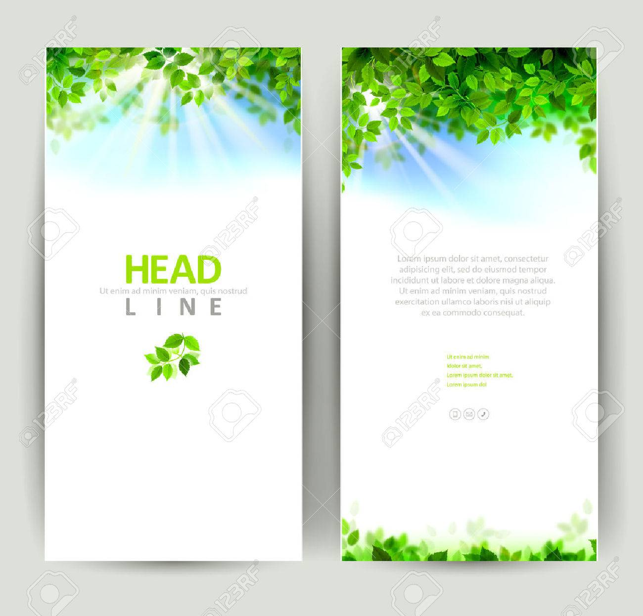 set of two natures banners - 38452414