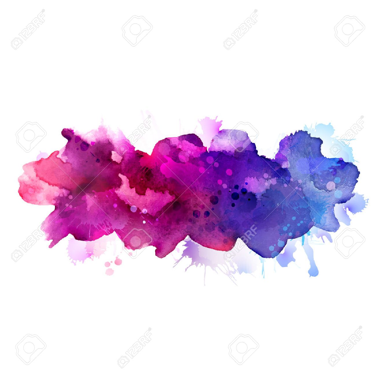 Purple and blue watercolor stains Stock Vector - 40964844