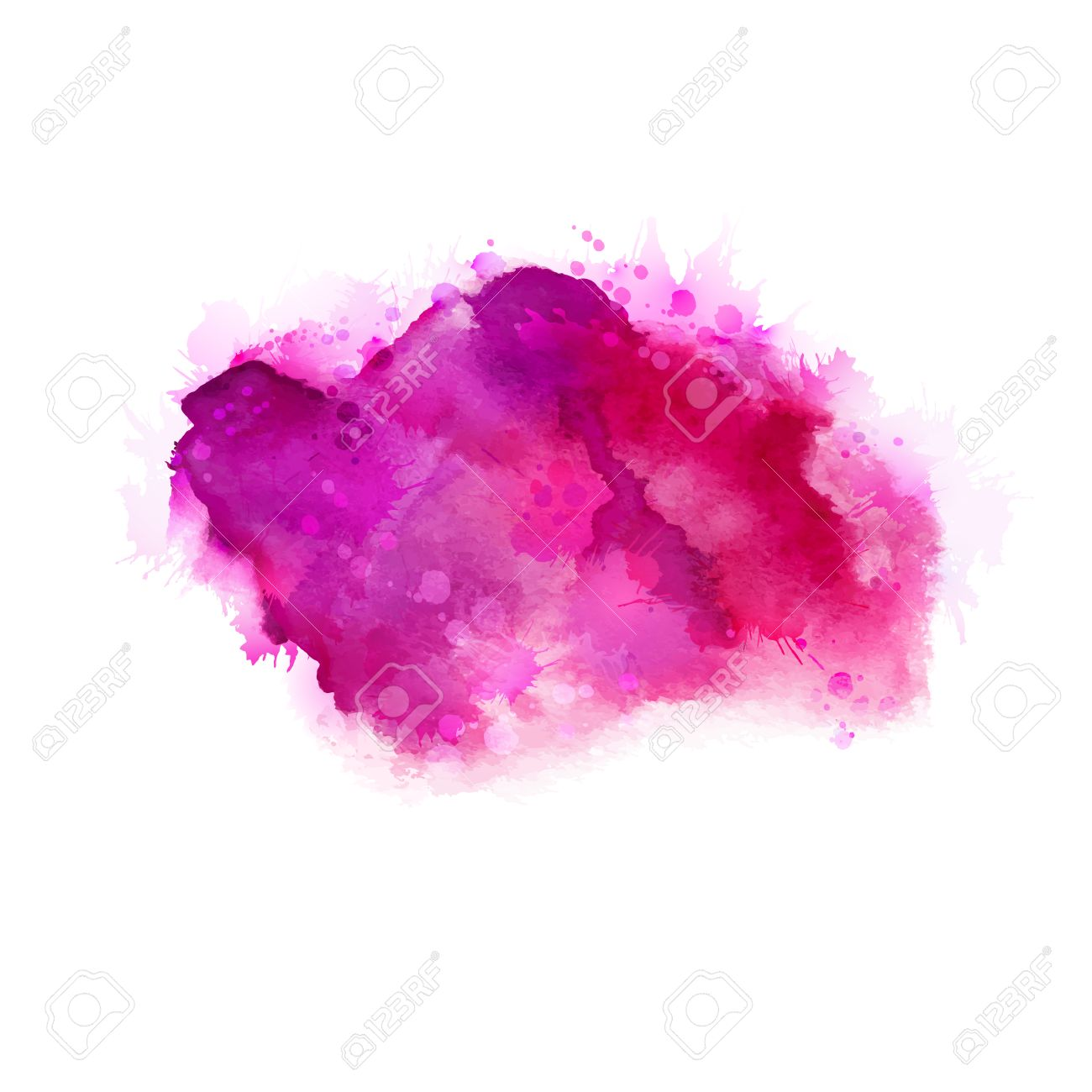 Bright Pink Paint Geranium Hot Pink And Magenta Watercolor Stains Bright Color