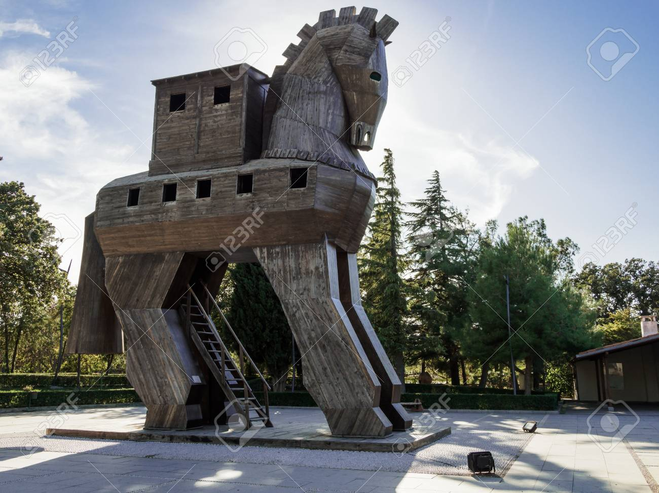 The Replica Of Wooden Trojan Horse At The Ancient City Of Troy Stock Photo Picture And Royalty Free Image Image 123112706