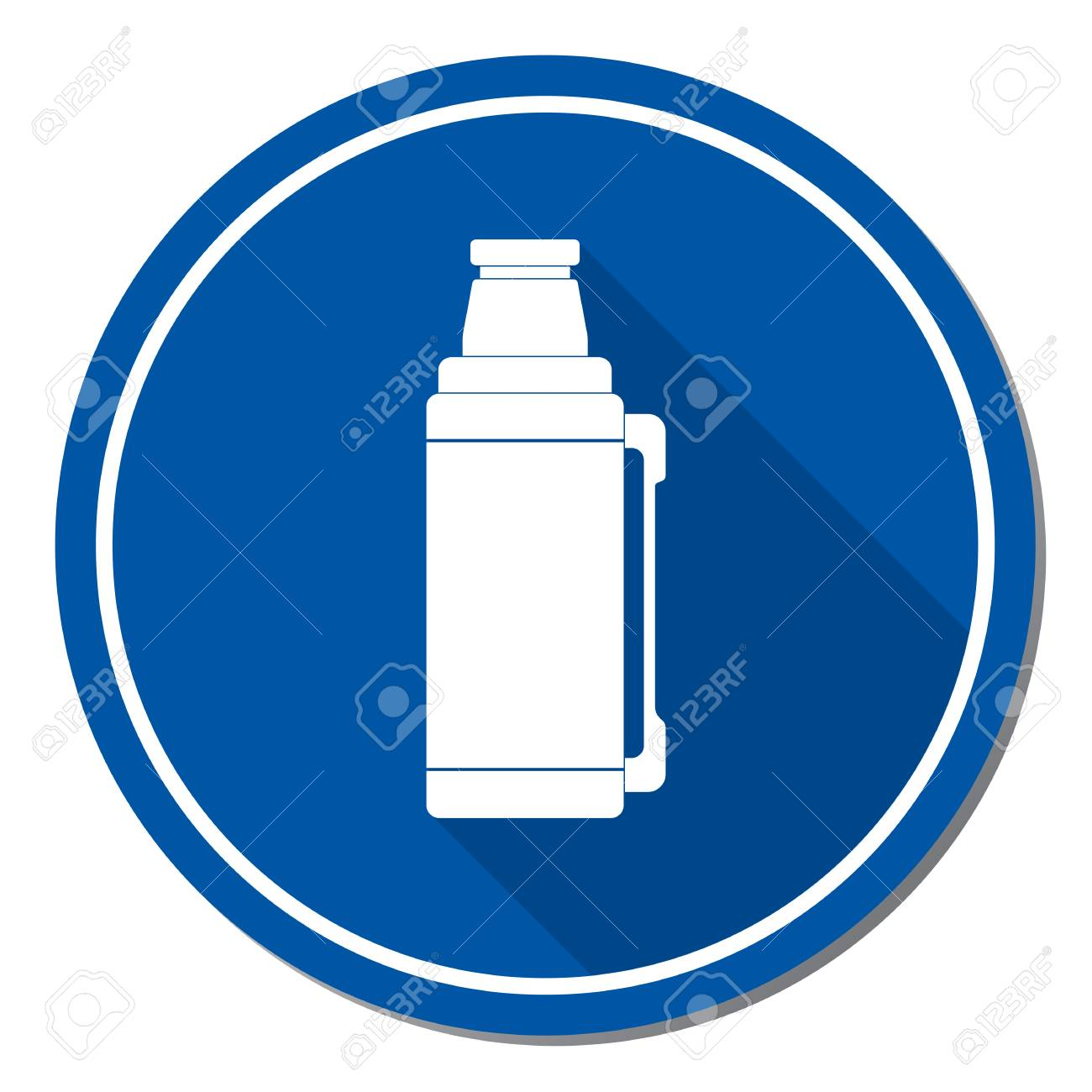 Camping Water Container >> Hot Water Container Icon Camping And Hiking Equipment Vector