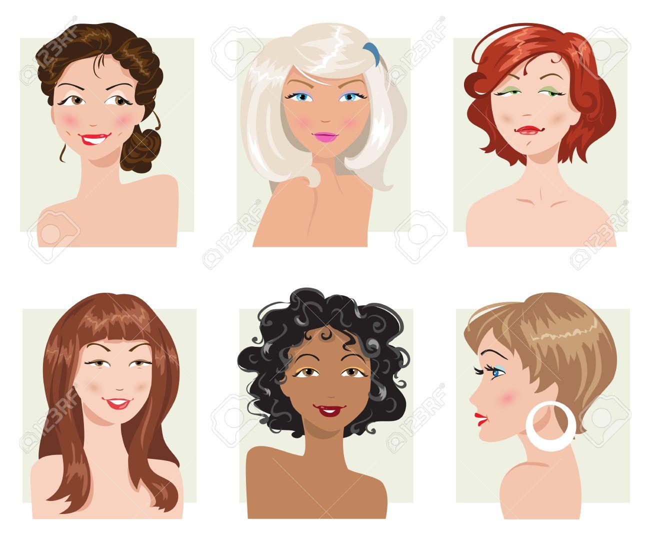 Все виды женской прически в картинках