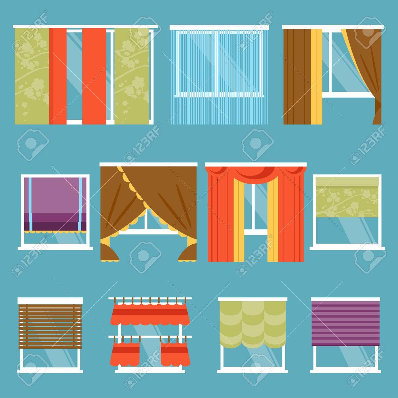 Illustration Von Gestaltungsmoglichkeiten Und Arten Von Fenstern