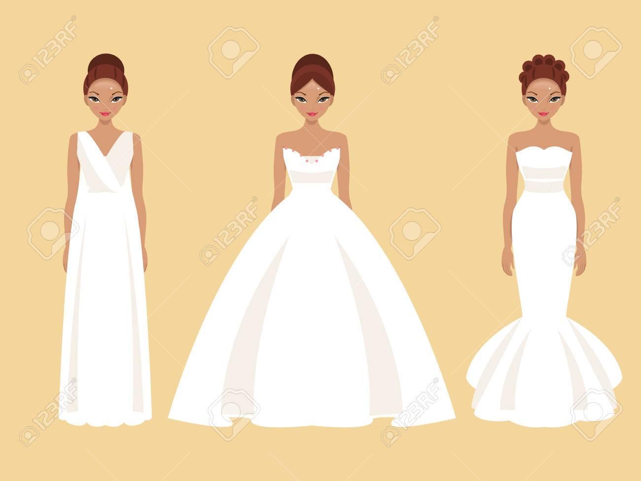 Diferentes estilos de vestidos de novia