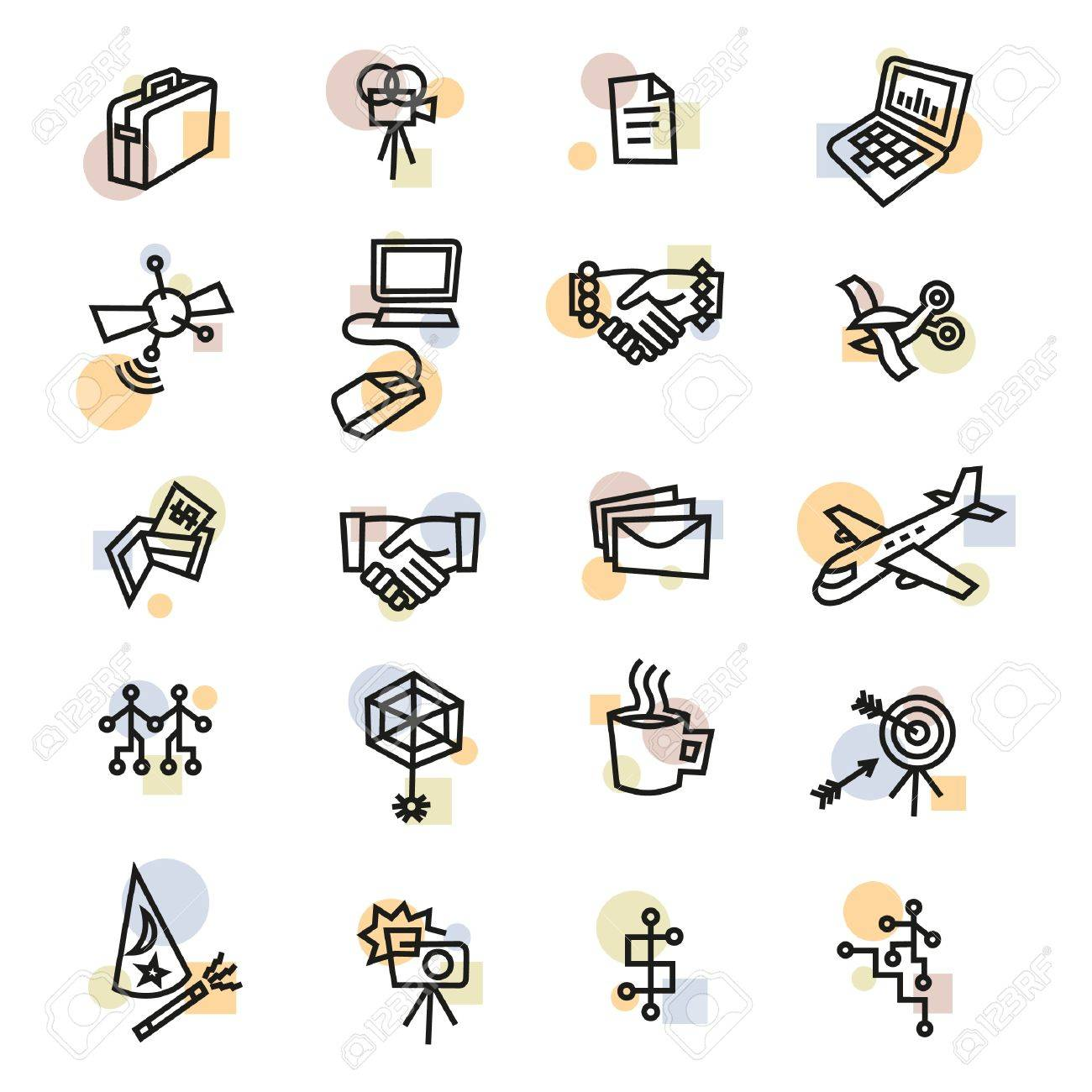 Industry and Business Icons Stock Vector - 17121823