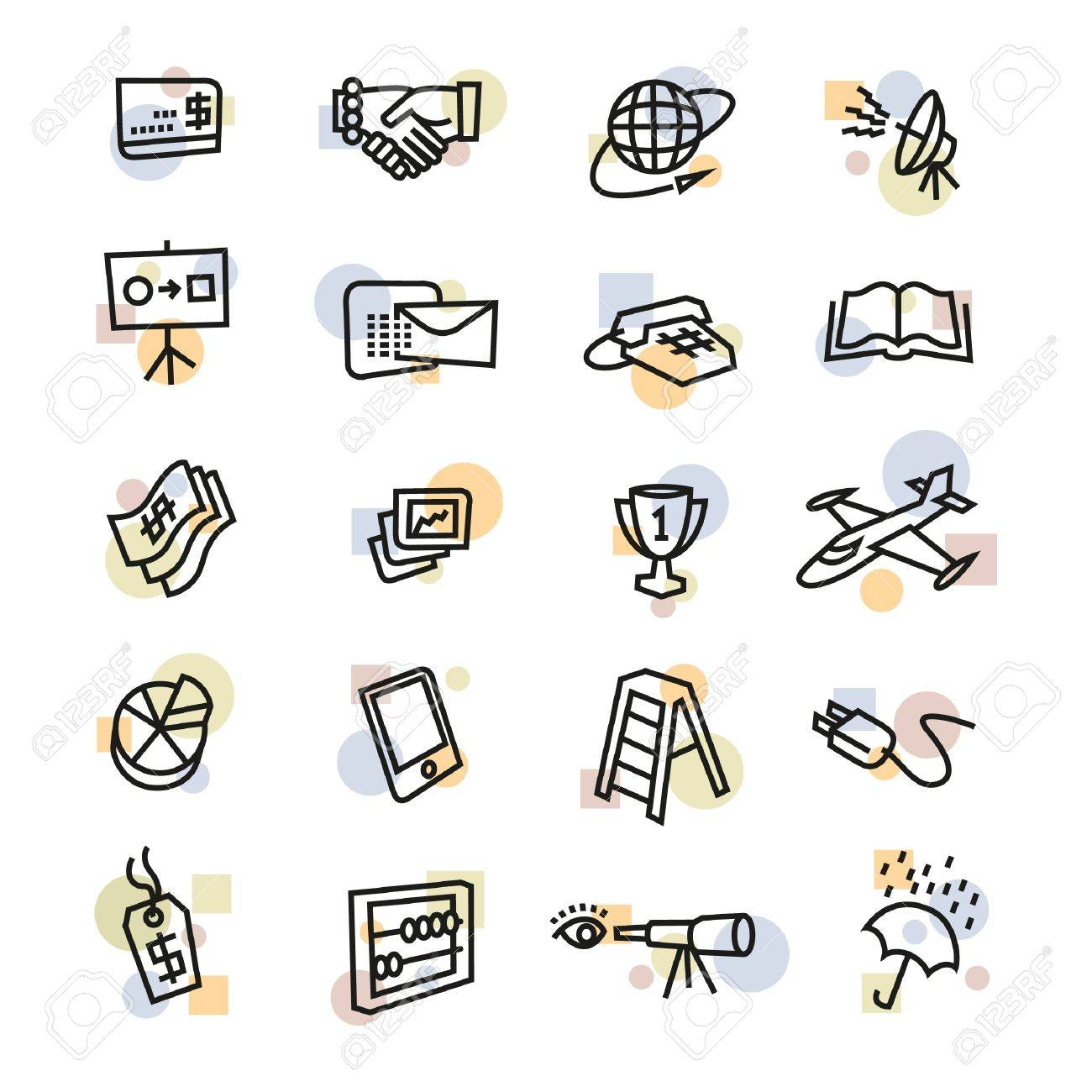 Industry and Business Icons Stock Vector - 17121821