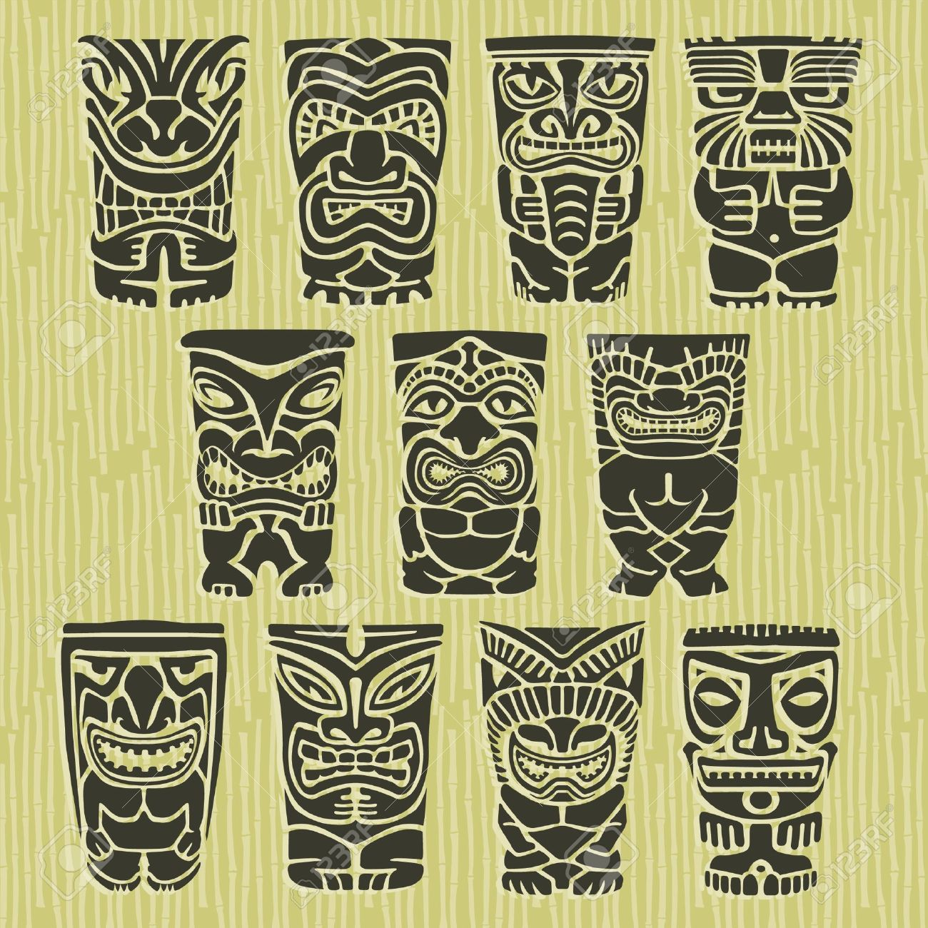 [Jeu] Association d'images - Page 18 17121839-tiki-tribal-native-island-totems-tiki-totem-polynesian