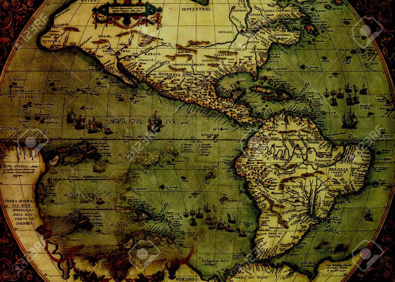 Treasure Map 1500s Stock Photo Picture And Royalty Free Image