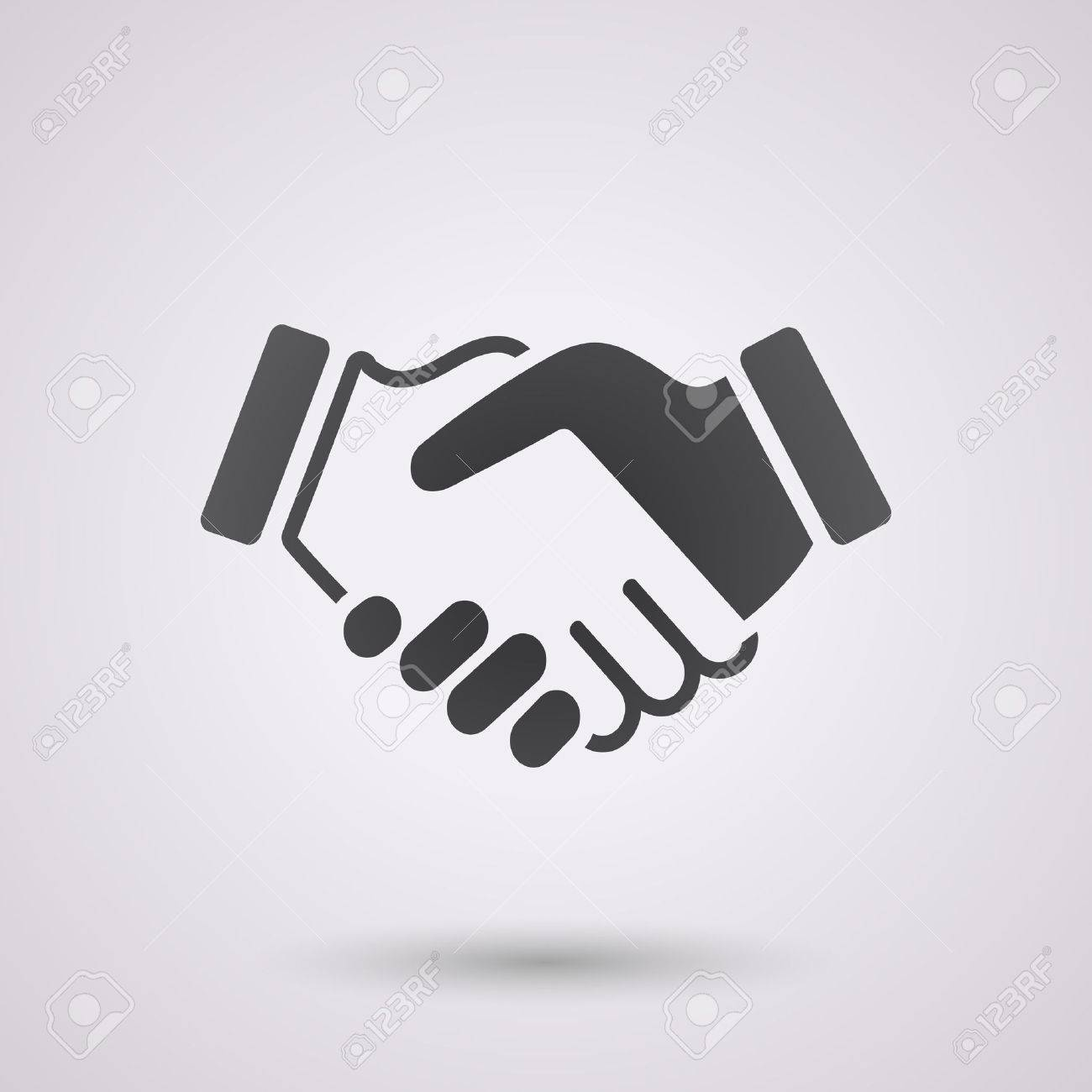 black icon handshake. background for business and finance - 40445705