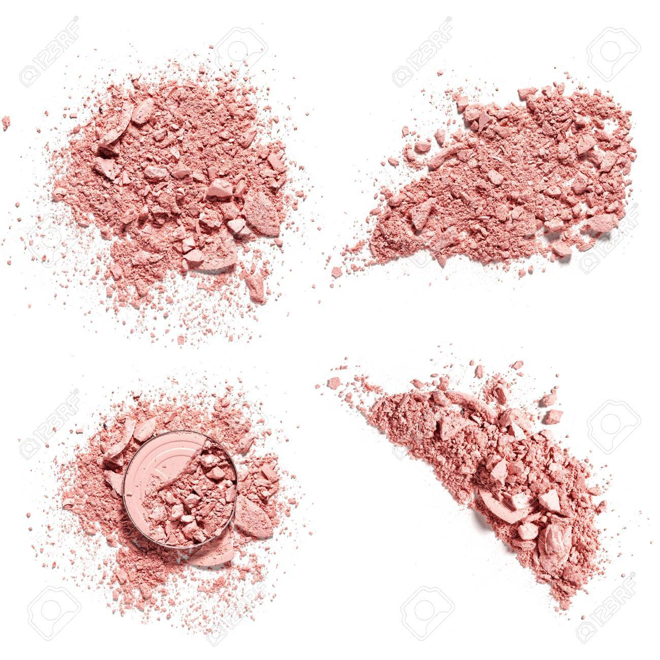 make up crushed eyeshadow on white background stock photo picture
