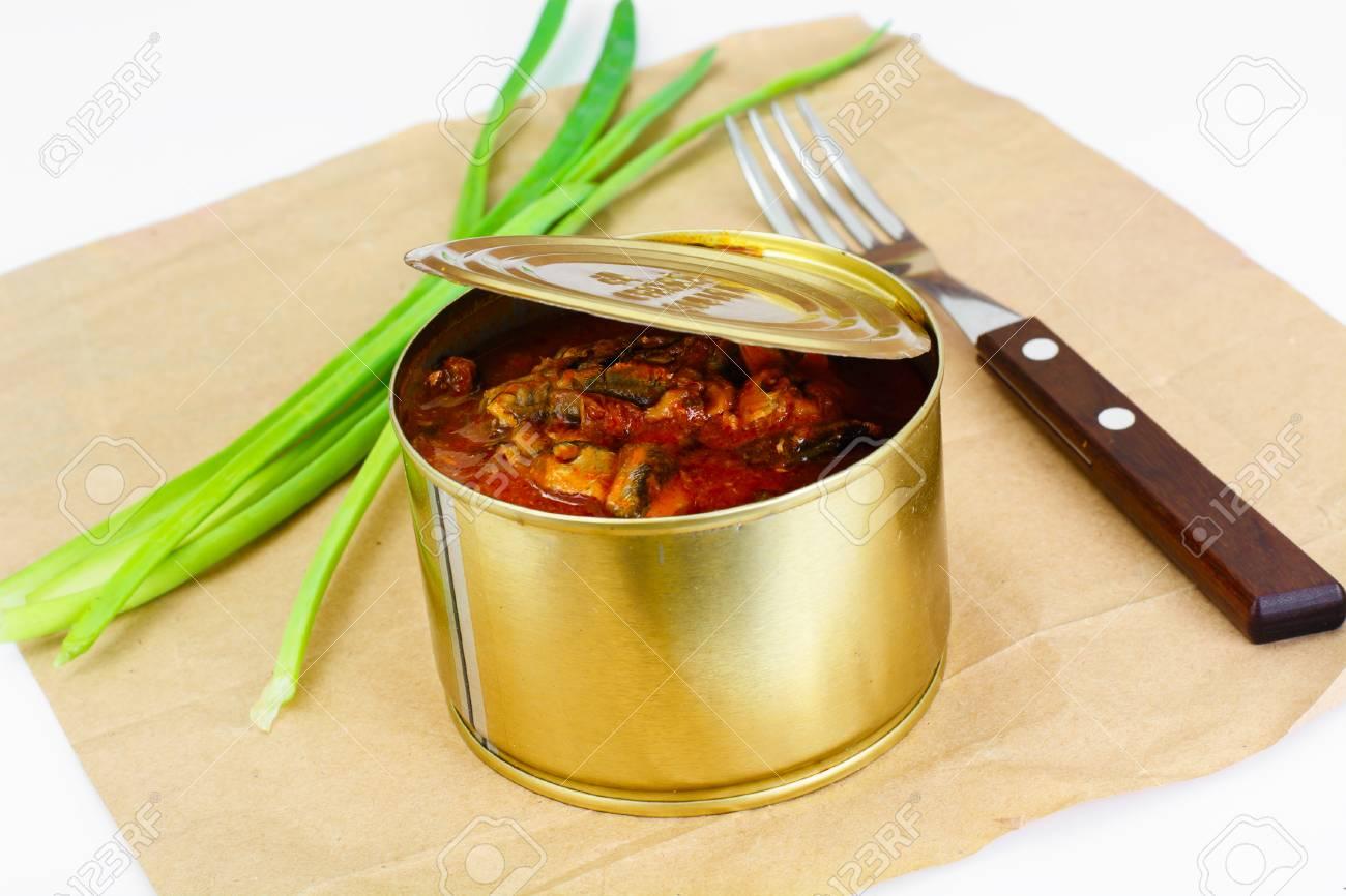 Fish sprat soup in tomato sauce: a recipe 44