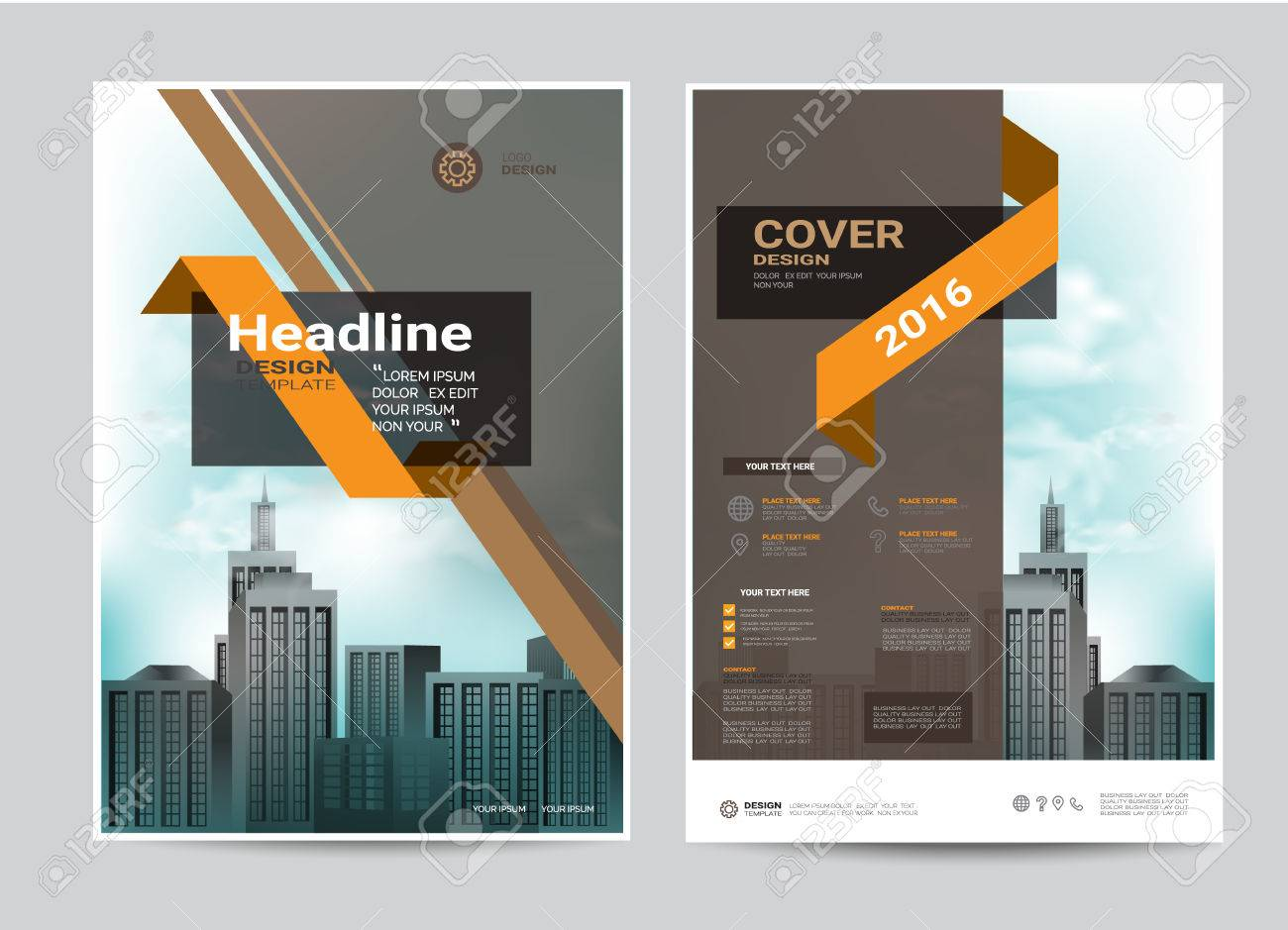 corporate brochure design layout template in a4 size modern