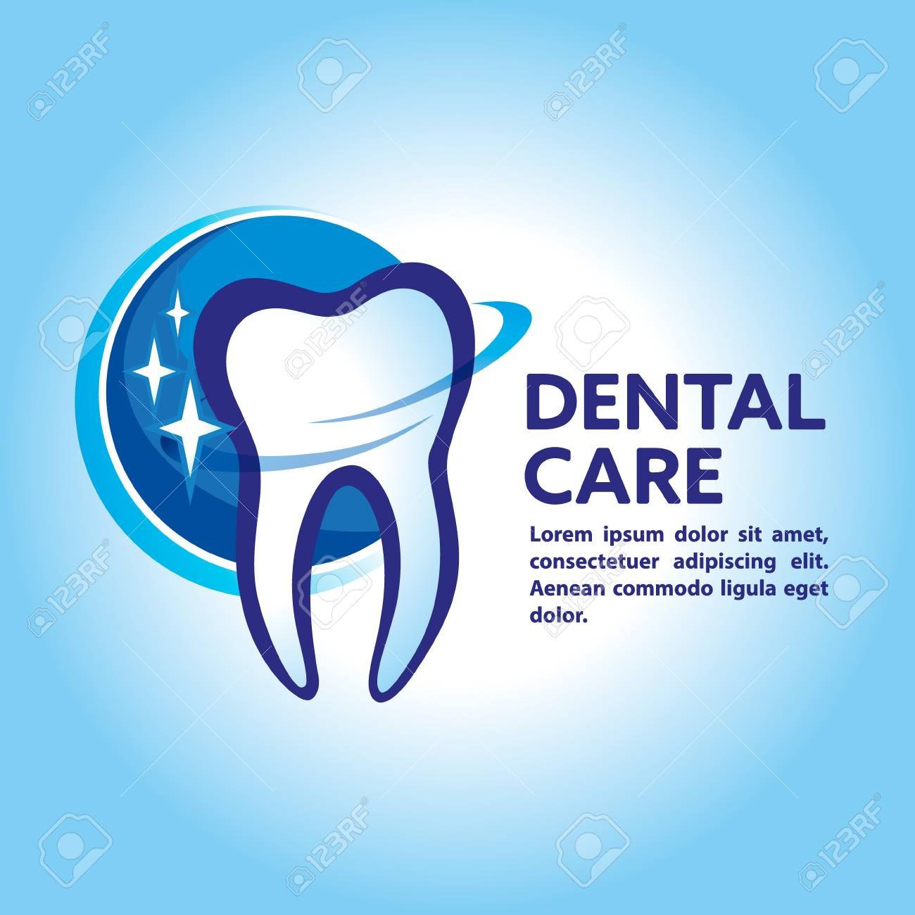 Health Dent Logo Design Vector Cosmetic Dental Dentistry Clinic Logotype Concept Icon