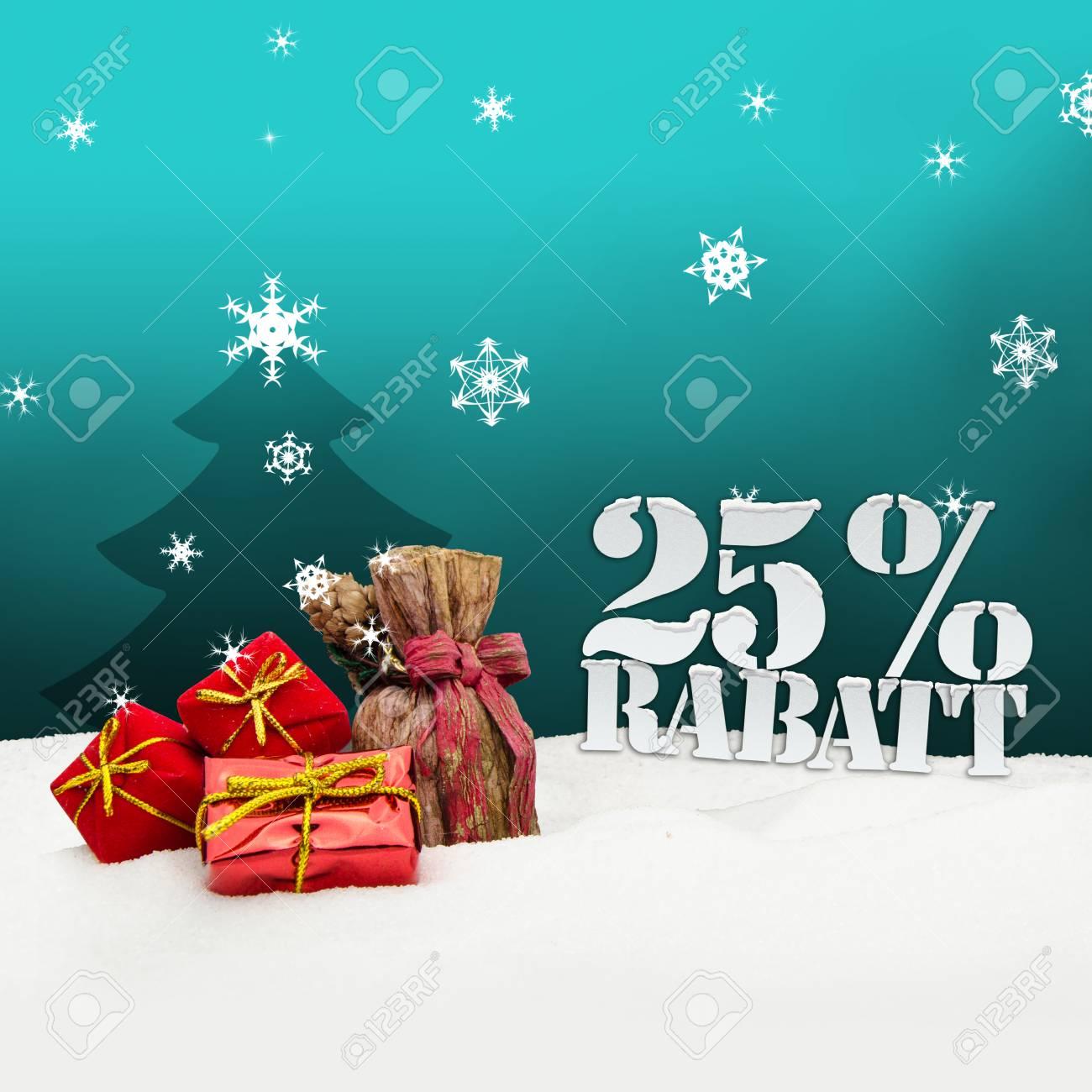 Weihnachtsgeschenke 25 Prozent Rabatt Rabatt Türkis Lizenzfreie ...