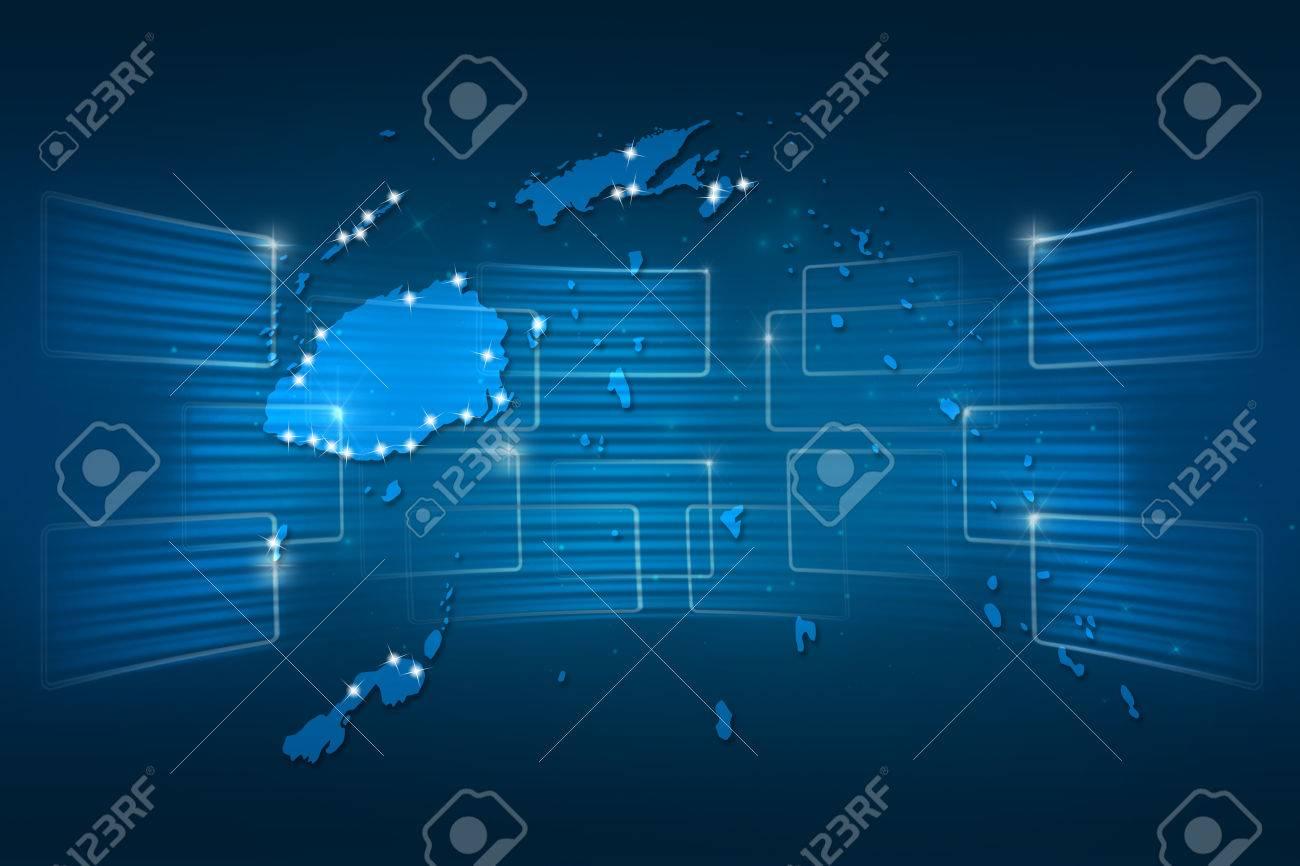 Islas Fiji Mapa Mapa Del Mundo Azul Entrega Noticias Comunicacion