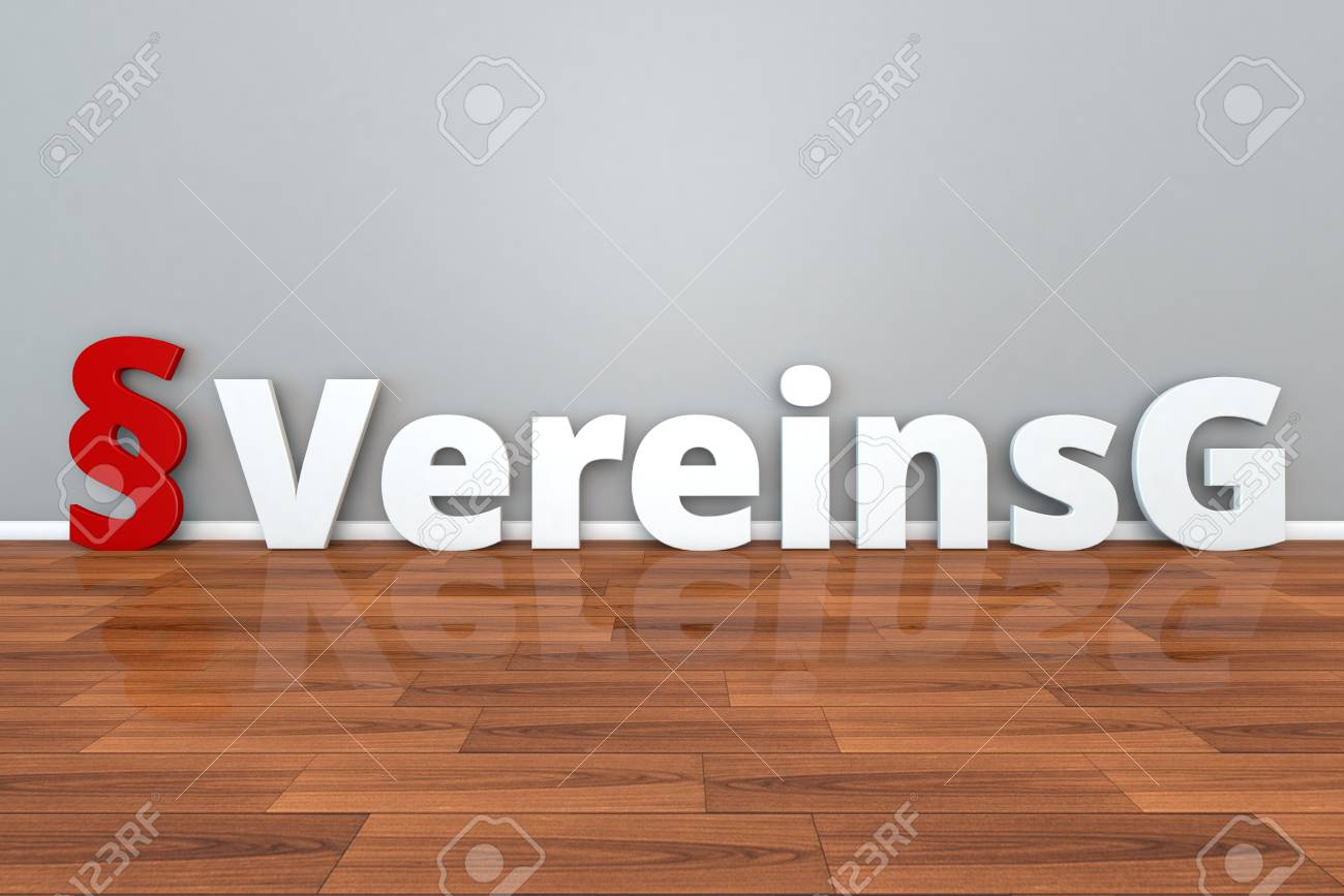 German Law VereinsG Abbreviation For Governing Public Association 3d Illustration Stock