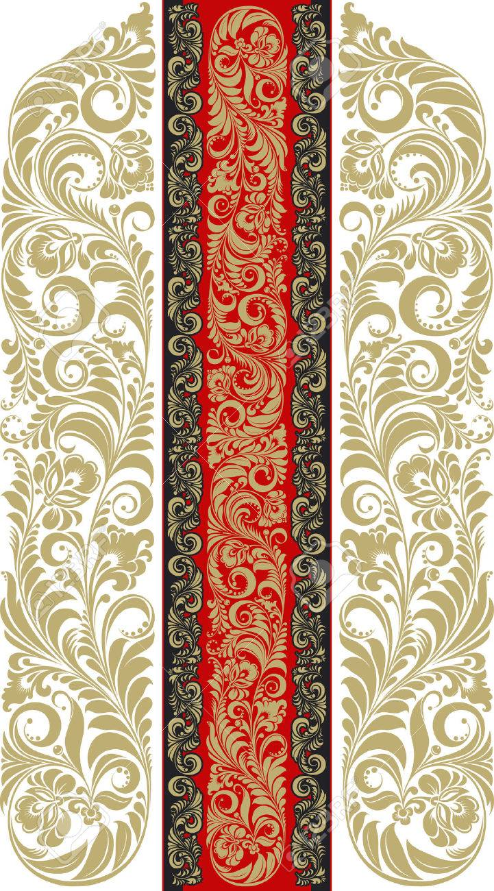 Floral pattern in the traditional Russian style. Stock Vector - 2433145