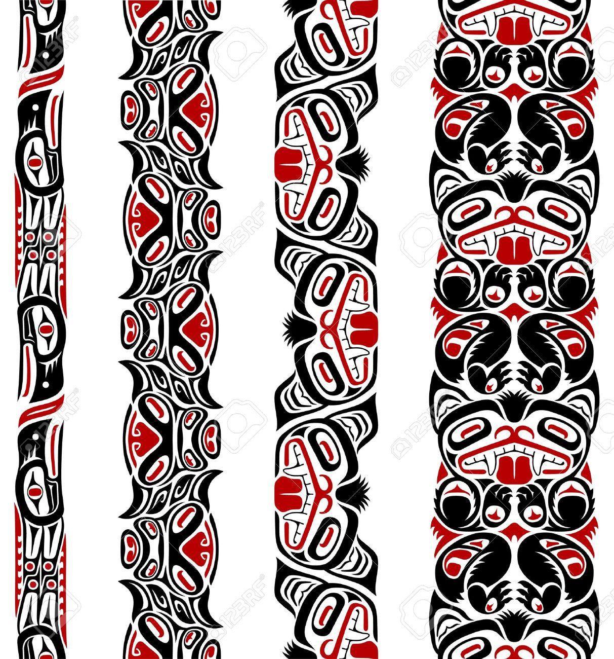 Haida style seamless pattern  Haida Animal Tattoos