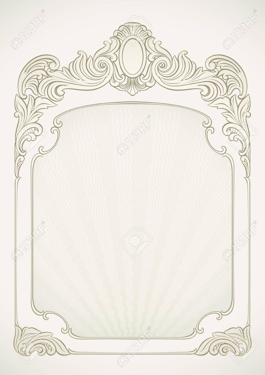 Label background designed in Victorian style Stock Vector - 19841212