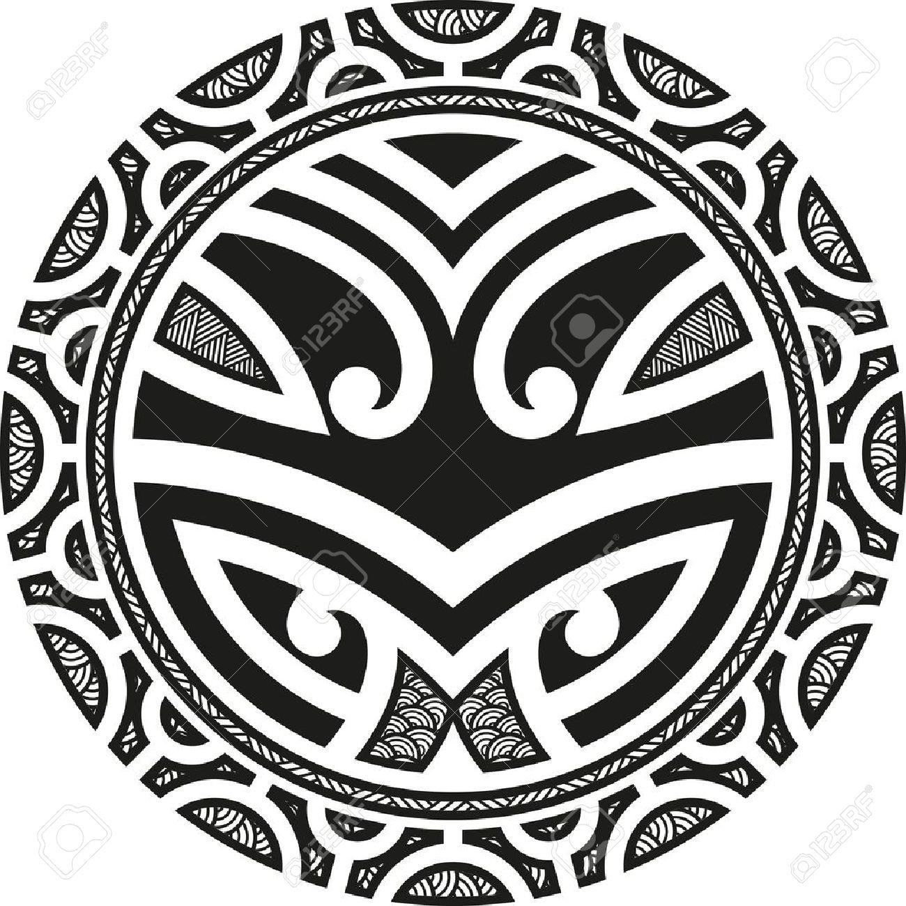 3ee3f154a Traditional Maori Taniwha Tattoo Design Royalty Free Cliparts ...