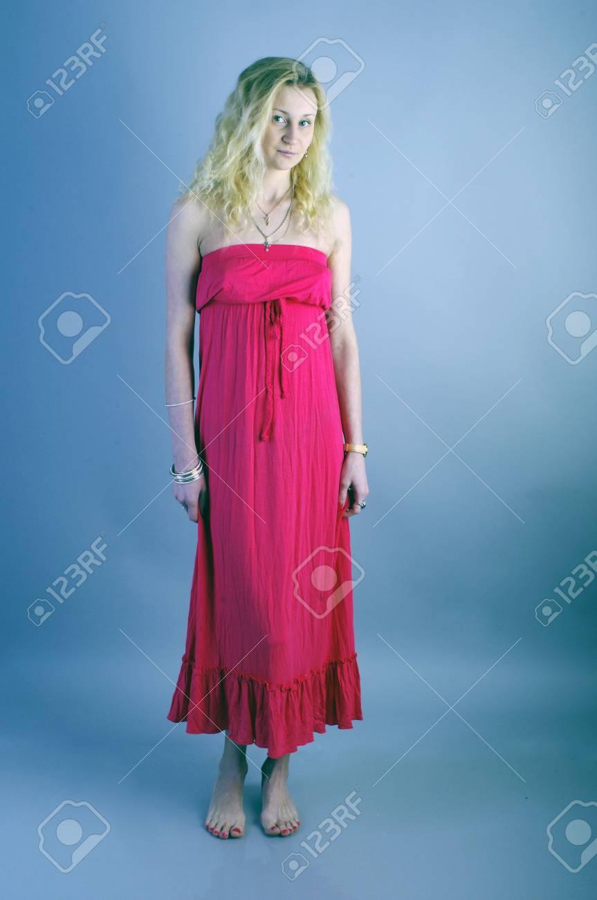 Girl in red dress Stock Photo - 17386226