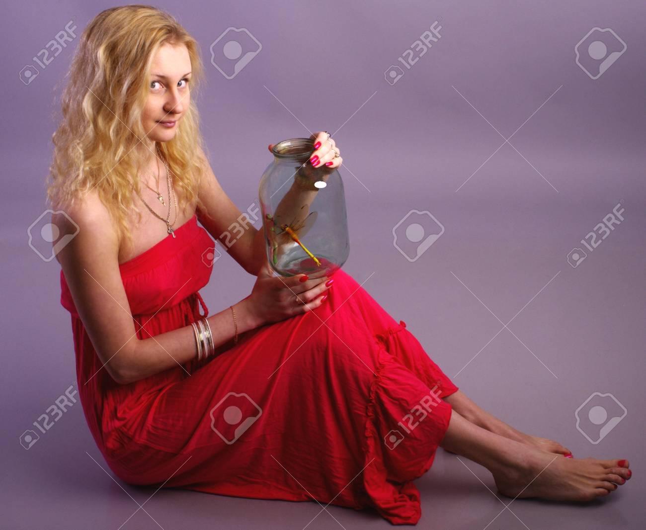 Girl in red dress Stock Photo - 17385667