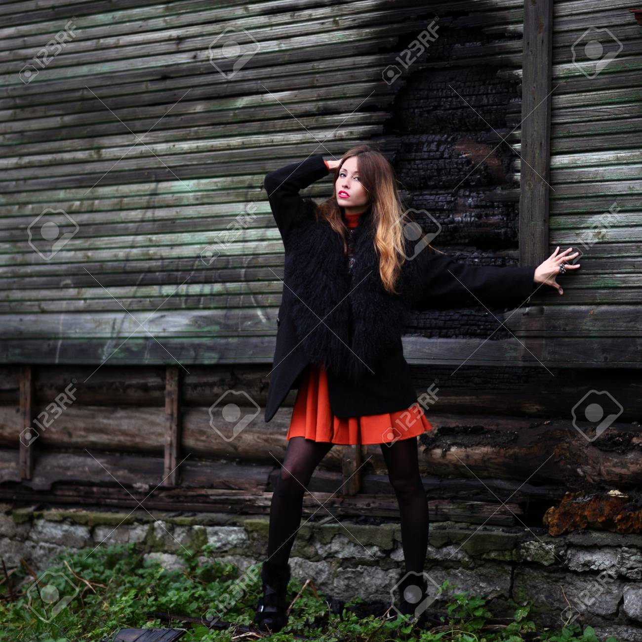 Magnificent charming gipsy woman staying outdoor Stock Photo - 17007067