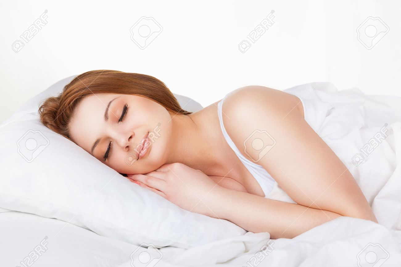 stock photo of woman sleeping