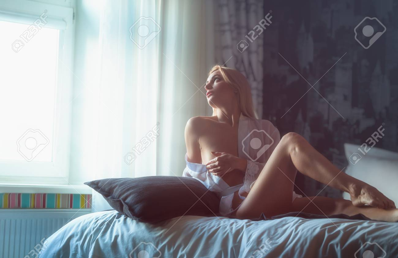Sexy woman in the morning