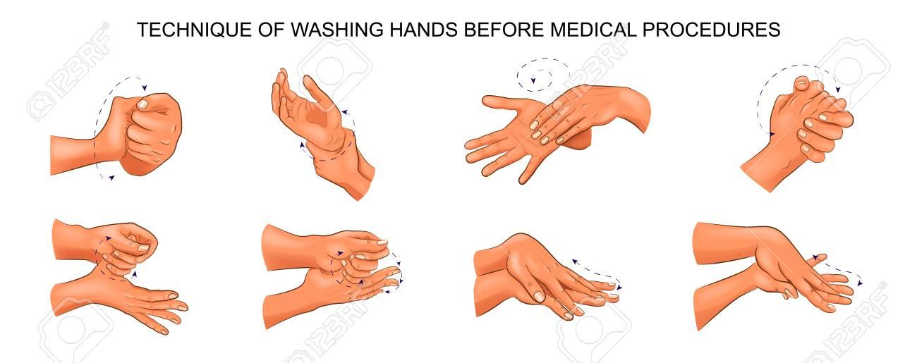 Illustration of washing hands. - 91759936