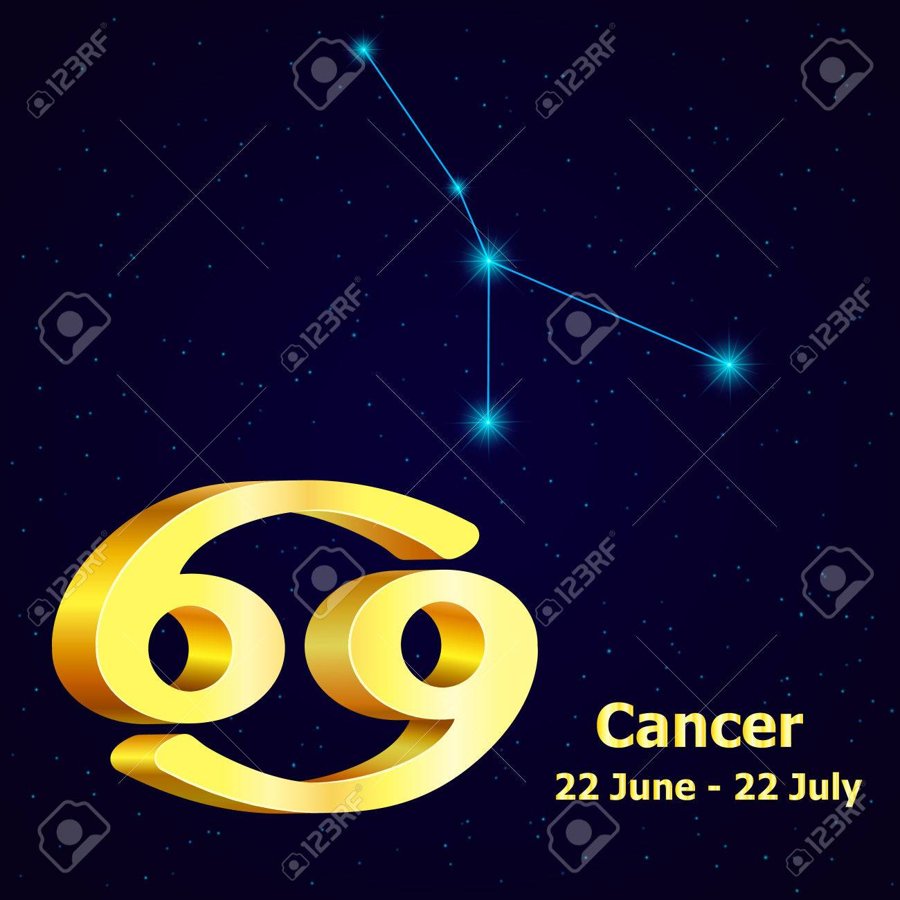 Vector zodiac sign cancer astrology gold cancer constellation vector zodiac sign cancer astrology gold cancer constellation stock vector 55789438 biocorpaavc Gallery