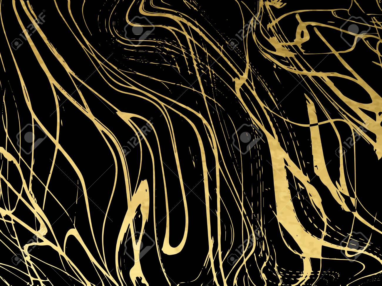 Gold, black, white marble template, covers design, marble texture, backgrounds. Trendy pattern graphic poster brochure cards Vector illustration - 105443245