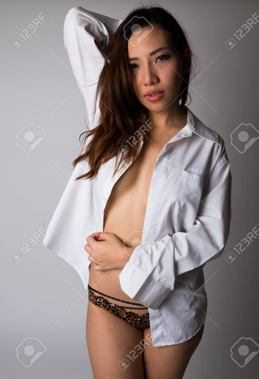 Hot girls in guy shirts Sexy Woman With Men S Shirt Stock Photo Picture And Royalty Free Image Image 25841225