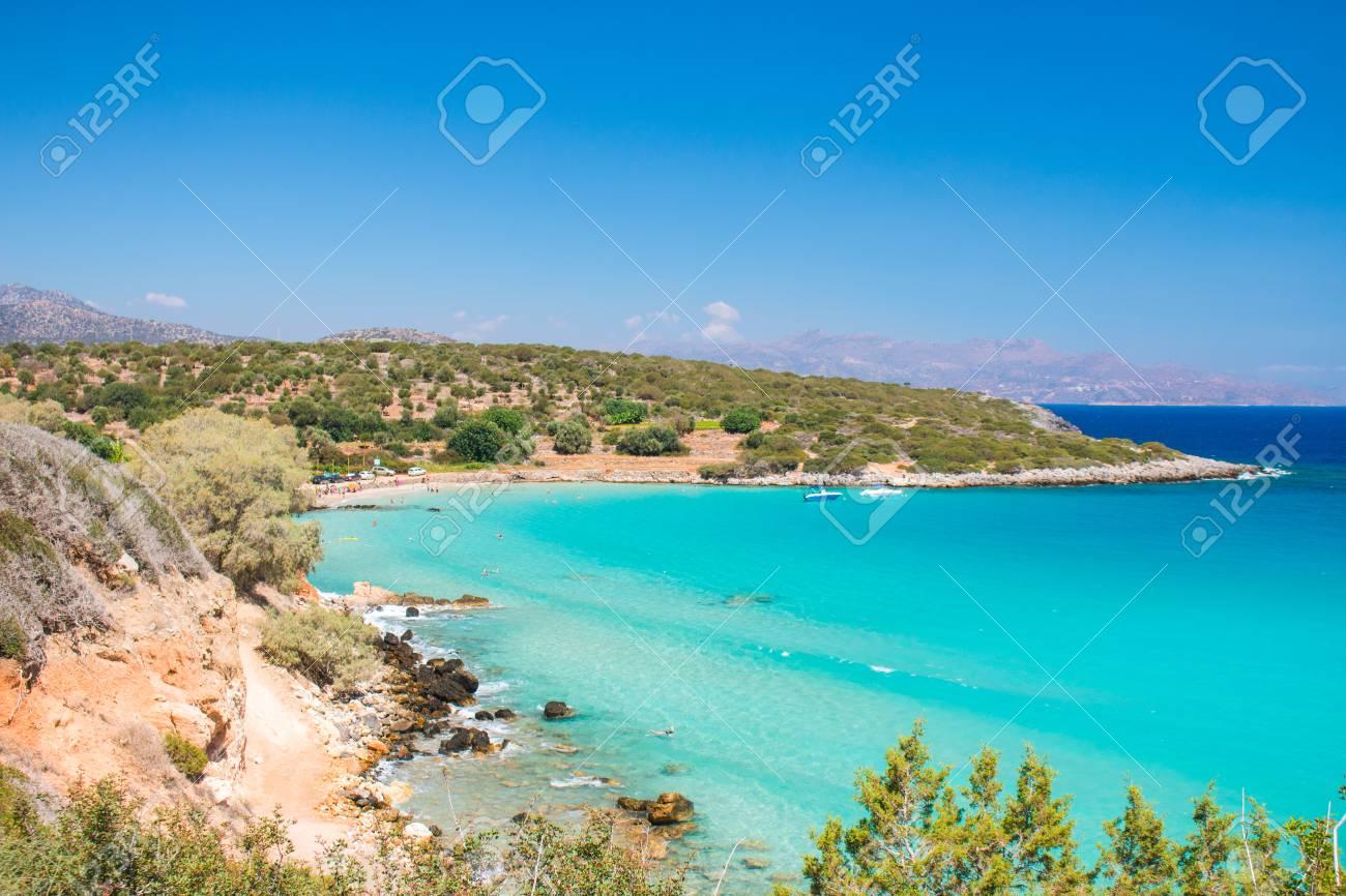 One Of The Best Beaches On Crete Greece Voulisma Beach Near