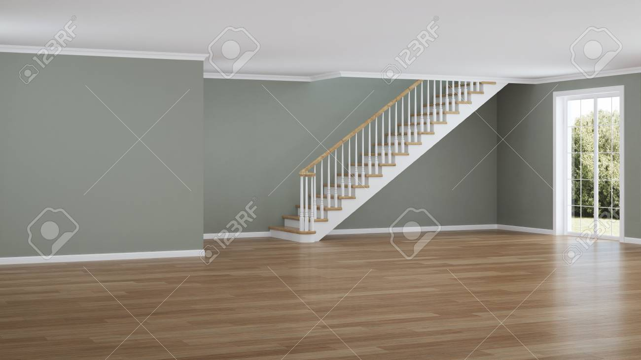 Modern House Interior Empty Room 3d Rendering Stock Photo Picture And Royalty Free Image Image 106191890
