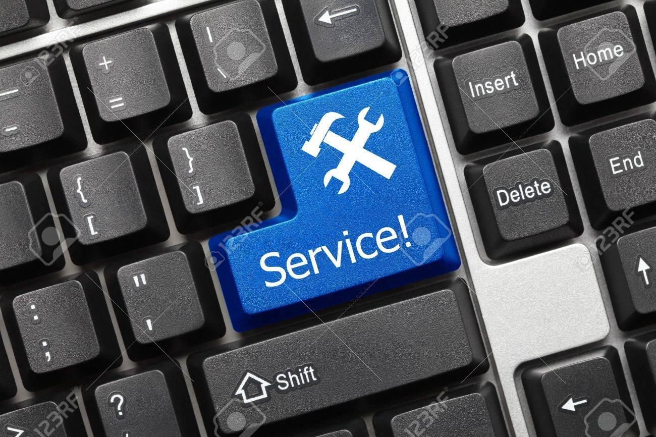 Conceptual keyboard - Service (blue key) Stock Photo - 14699028