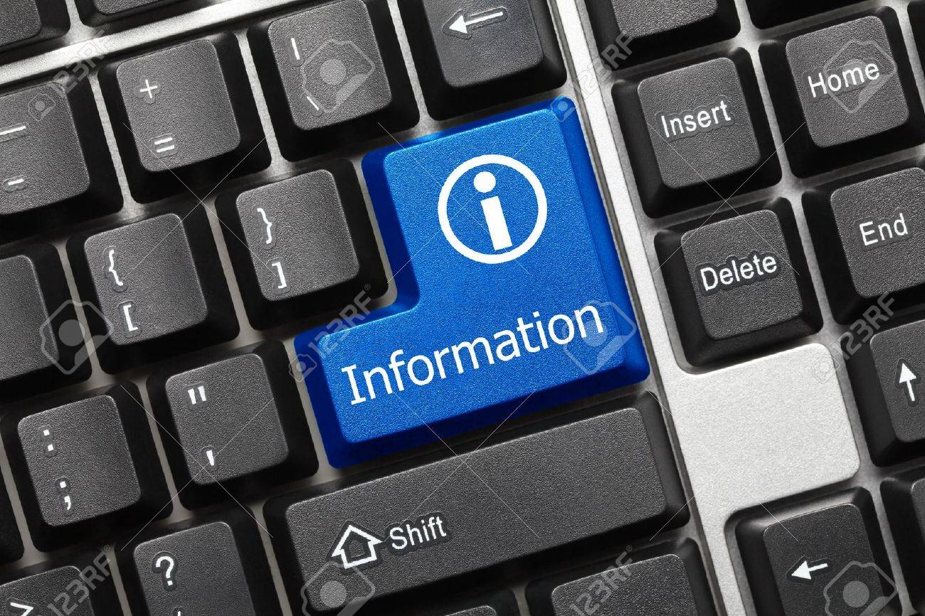 Conceptual keyboard - Information (blue key with info sign) Stock Photo - 14889012