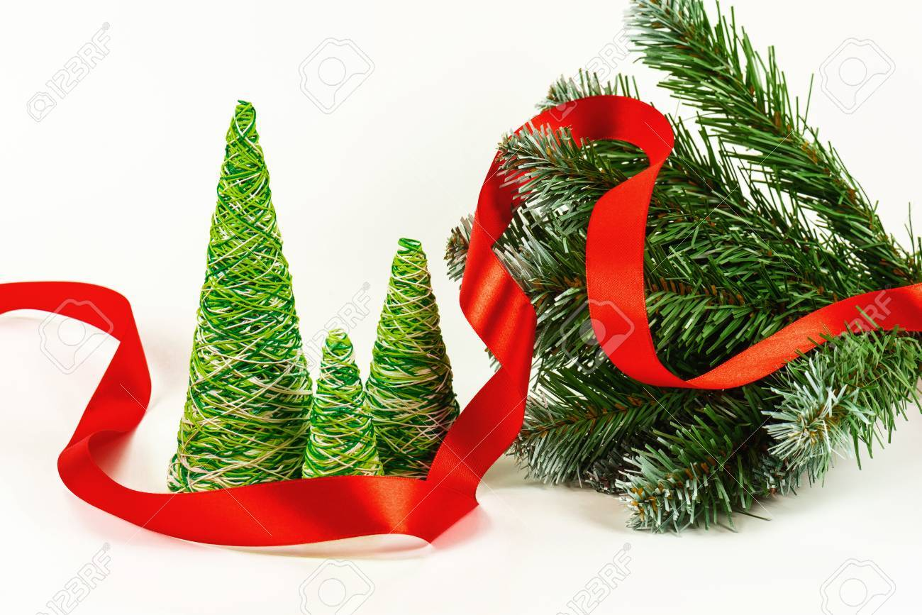 Creative Decorative New Year Tree Of Handwork From Multi-colored ...