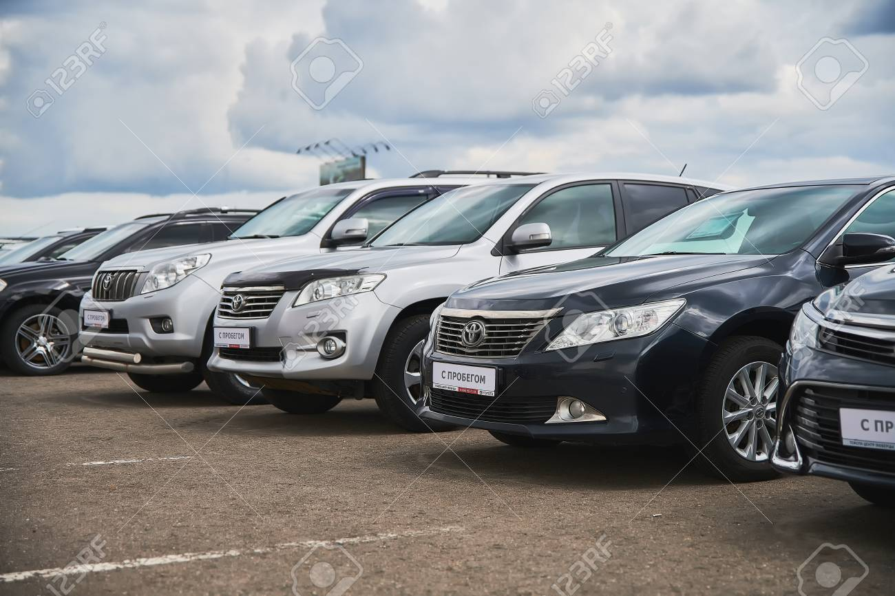 Used Cars Dealership >> Russia Moscow July 2019 Used Cars For Sale Are Exhibited On