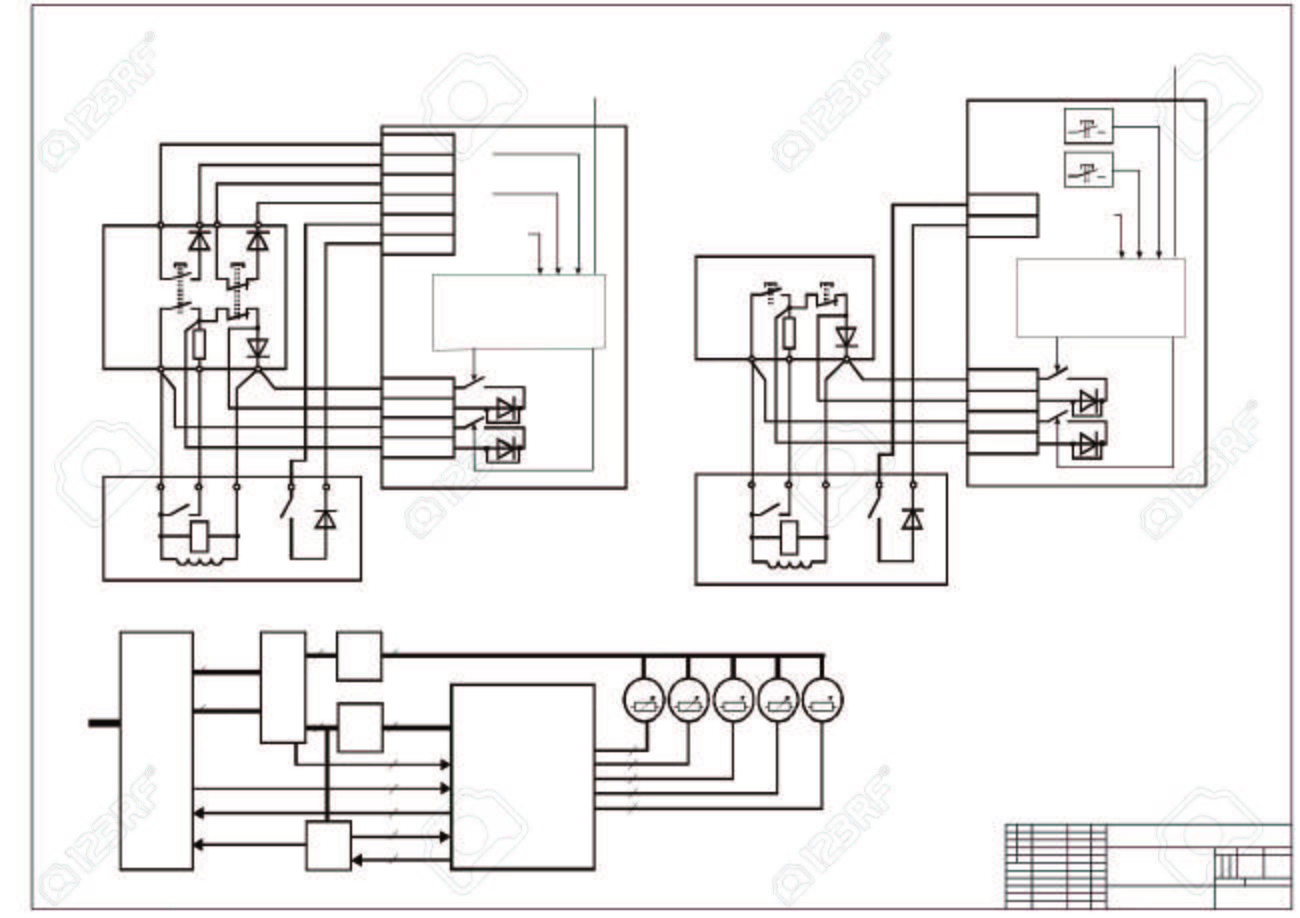 Schematic Diagram Power Supply Power Circuit Vector Drawing