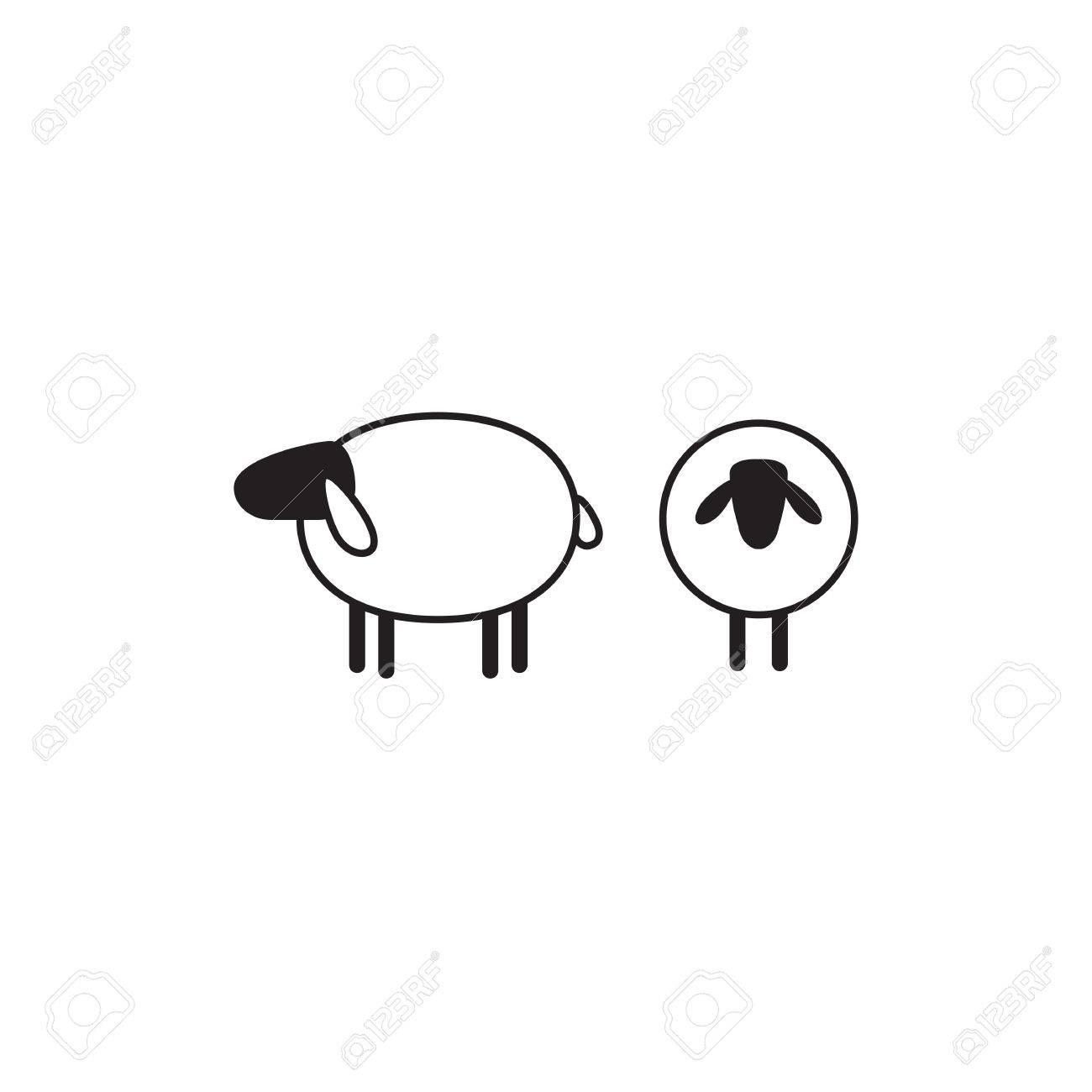 vector vector sheep or ram icon template pictogram modern emblem for market internet design decoration trendy simple lamb or ewe symbol - Dekoration Tren