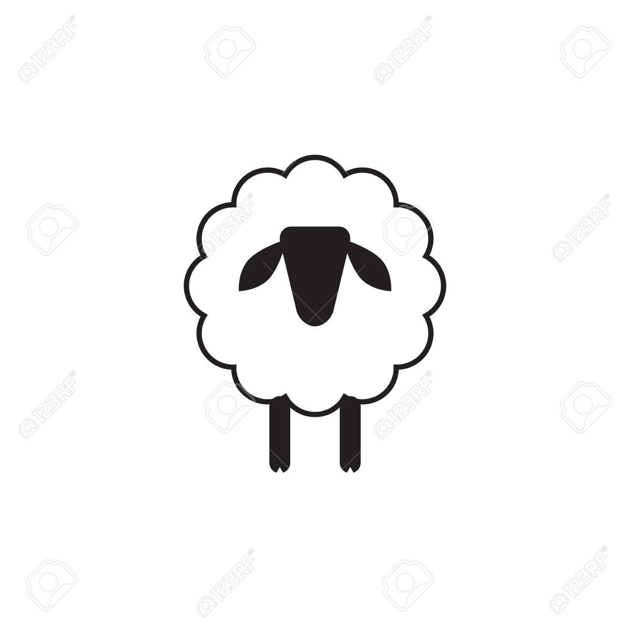 vector sheep or ram icon template pictogram modern emblem