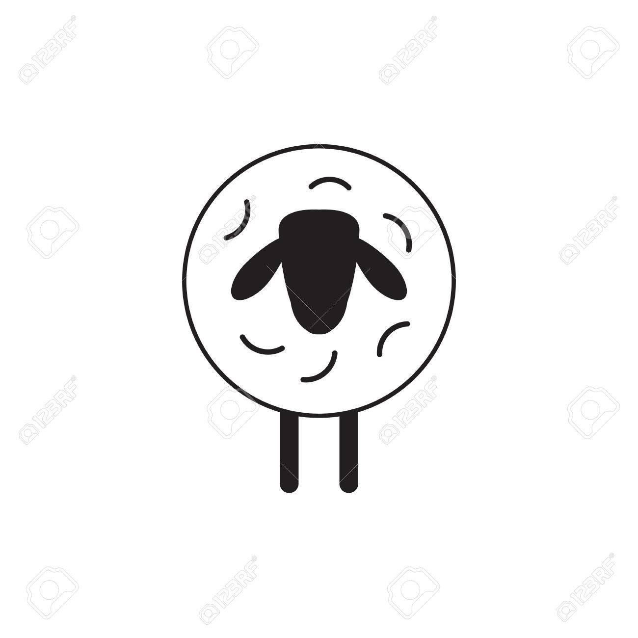 decoration trendy vector sheep or ram icon template pictogram modern emblem for - Dekoration Tren