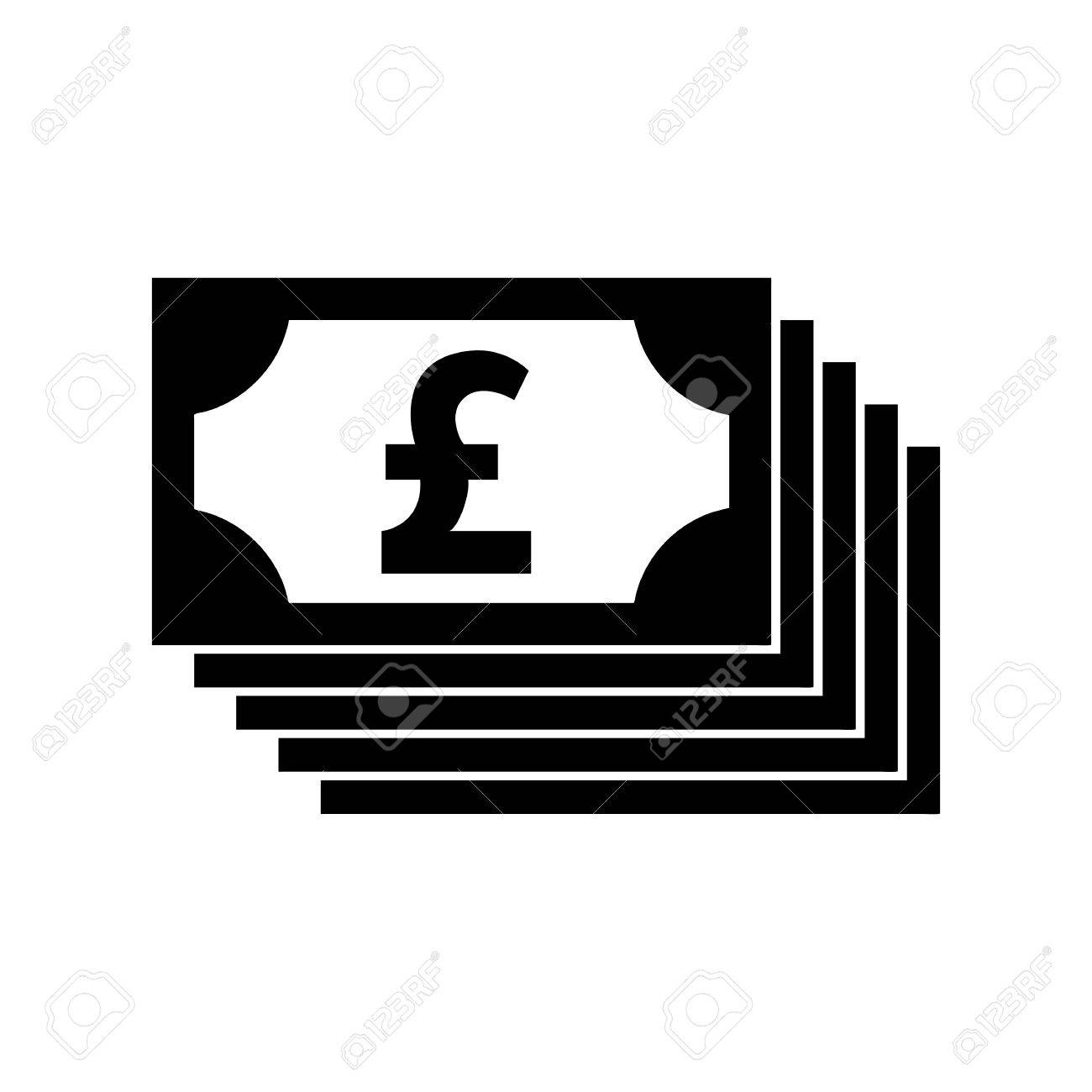 Money Pound Vector Icon Or Flat Sign National Uk Currency Symbol