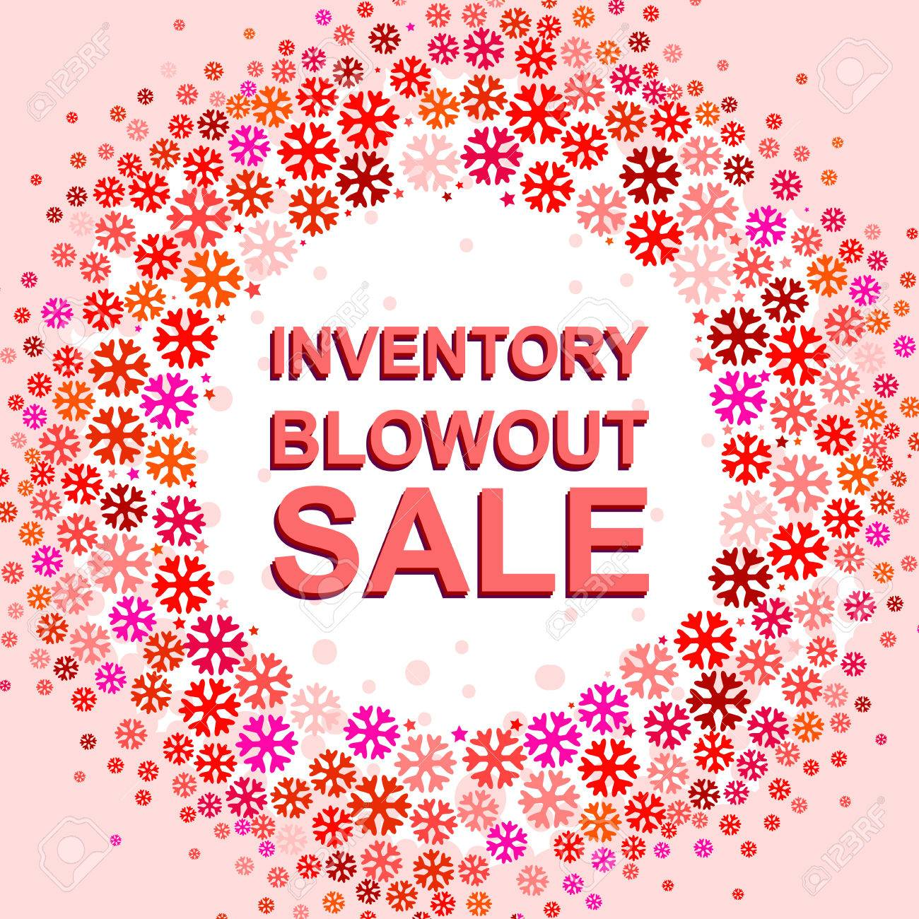 Big Winter Sale Poster With INVENTORY BLOWOUT SALE Text. Advertising ...